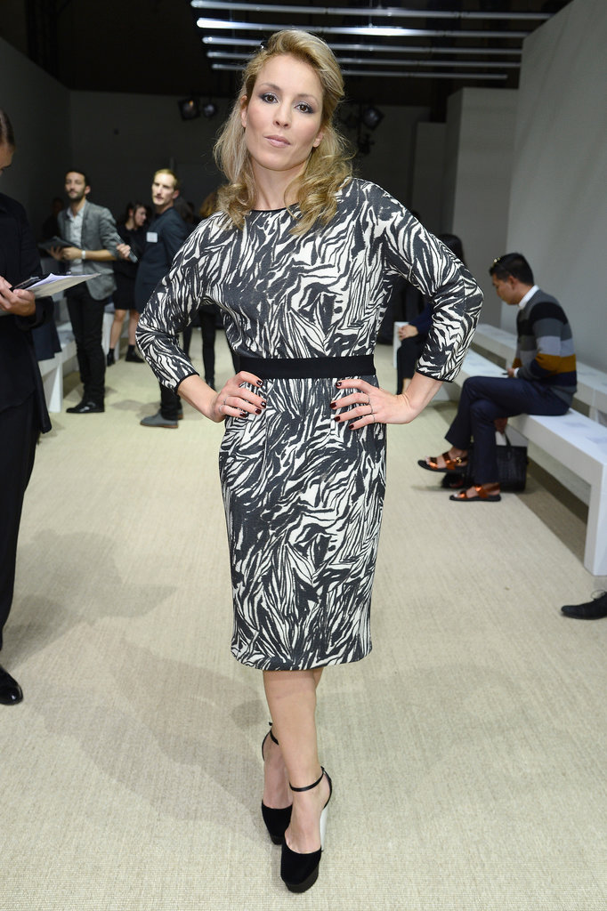Noomi Rapace dropped by Giambattista Valli's show on Sunday.