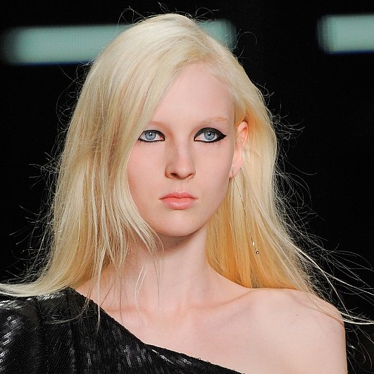 Saint Laurent Paris Spring 2014 Hair and Makeup | Runway