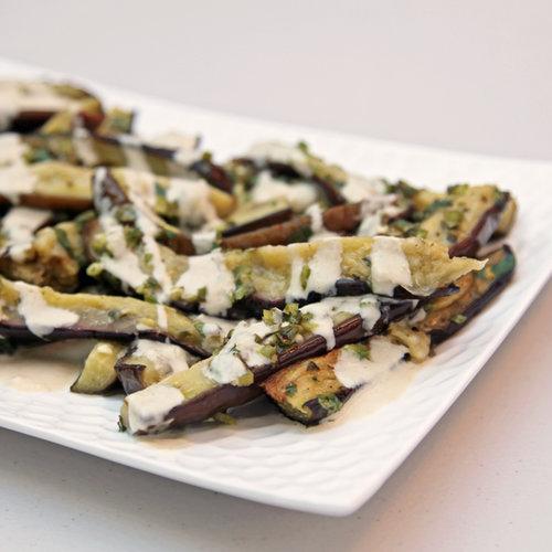 Marinated Eggplant With Tahini and Oregano