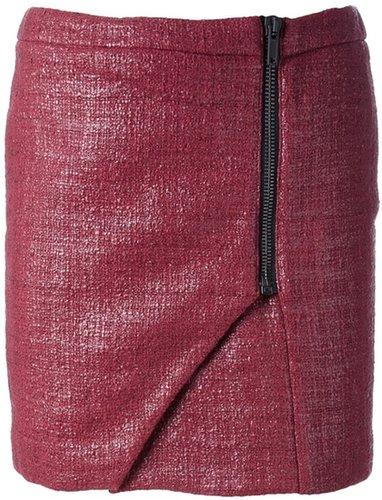 Msgm lacquered bouclé miniskirt