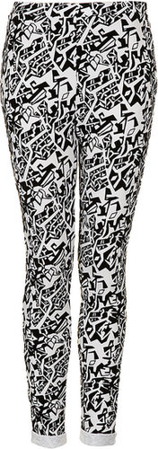 Tribal Shape Flocked Treggings
