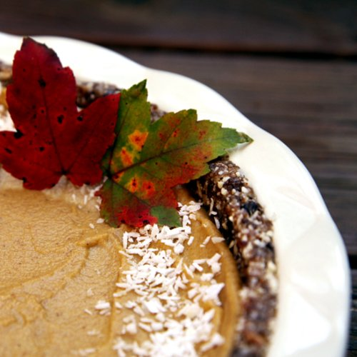 Raw, Vegan, Gluten-Free Pumpkin Pie