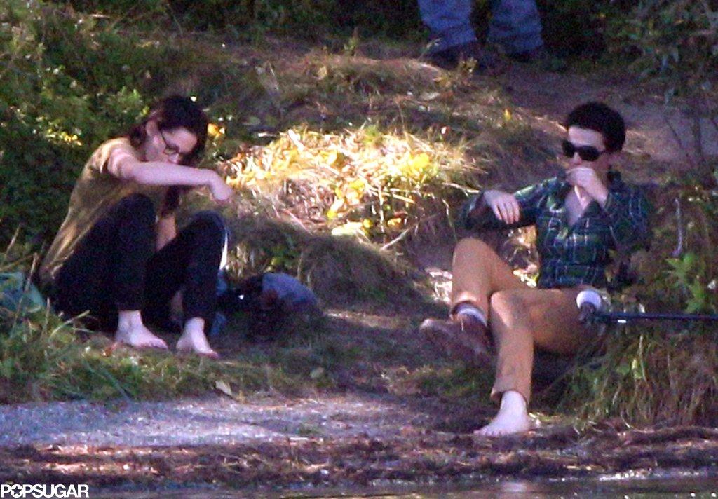 Kristen Stewart and Juliette Binoche filmed Sils Maria together.
