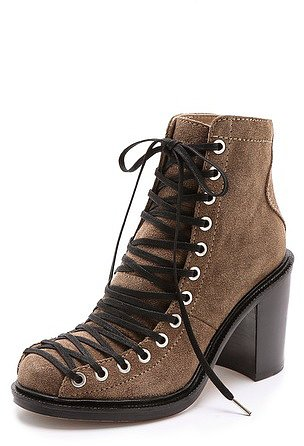 Elizabeth and james Terri Lace Up Booties