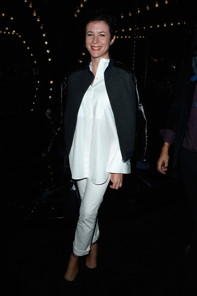 Garance Doré was chic in black and white in the front row of Louis Vuitton.
