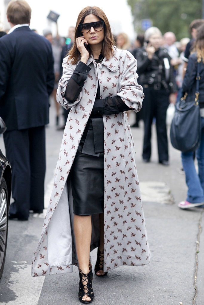 Christine Centenera doesn't mess around, not even in a printed coat.
