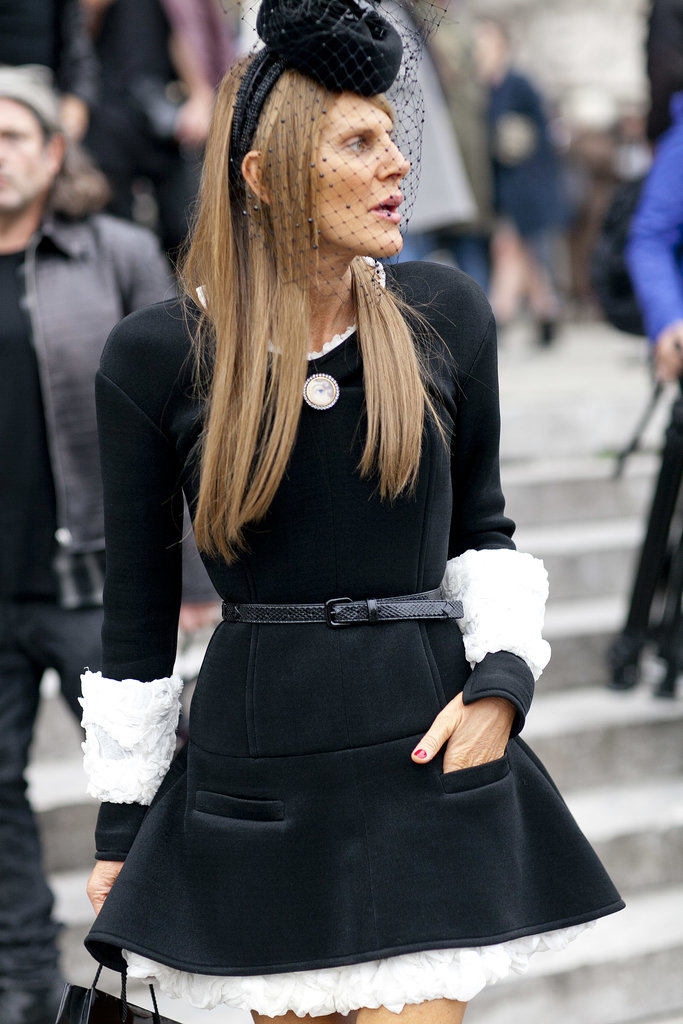 Anna Dello Russo channeled a French maid.