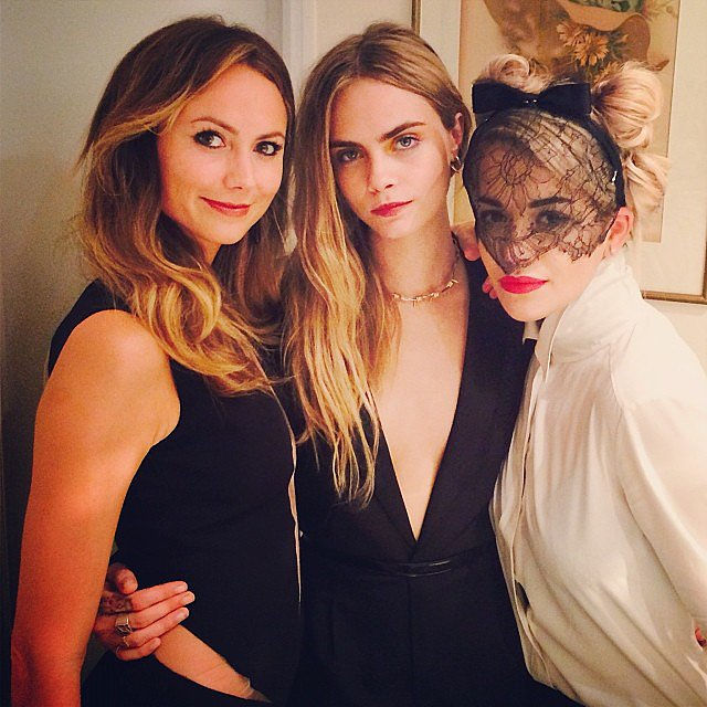 Stacy Keibler hung out with BFFs Cara Delevingne and Rita Ora during Paris Fashion Week. Source: Instagram user stacykeibler