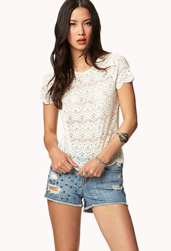 FOREVER 21 Ornate Lace Top