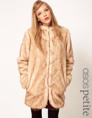 ASOS PETITE Longline Fur Coat