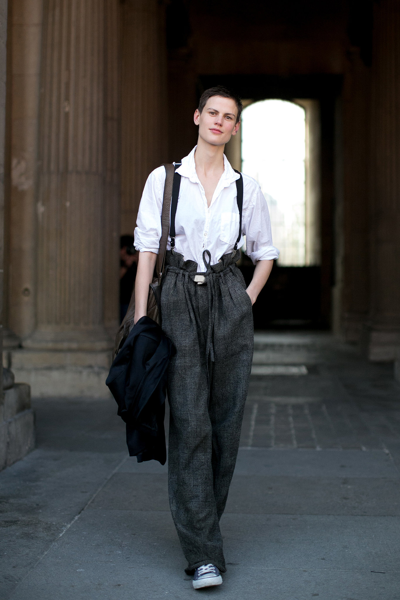 She mastered tomboy dressing with suspenders and paper-bag ...