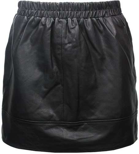 athé by Vanessa Bruno Short Leather Skirt