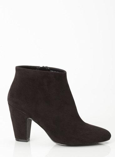 Black Chunky Heel Ankle