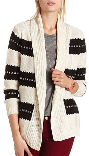 Thick Stripe Knit Cardigan