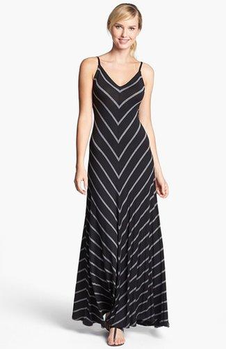 Max & Mia Chevron Stripe Maxi Dress