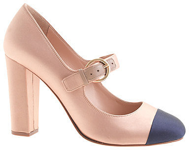 Collection Etta satin cap toe Mary Janes