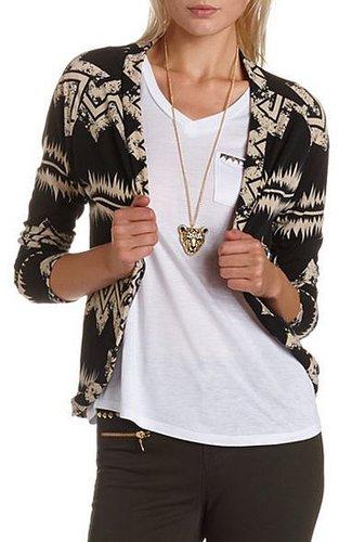 Hacci Knit Aztec Cardigan