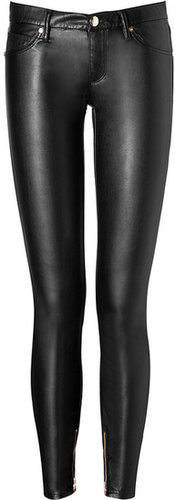 Juicy Couture Faux Leather Pants in Black