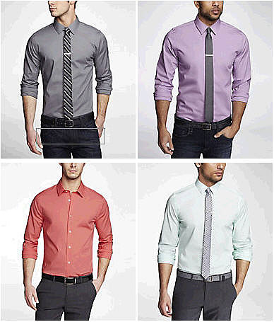 Express Men's 1mx Dress Shirts - Buy 1, Get 1 50% Off