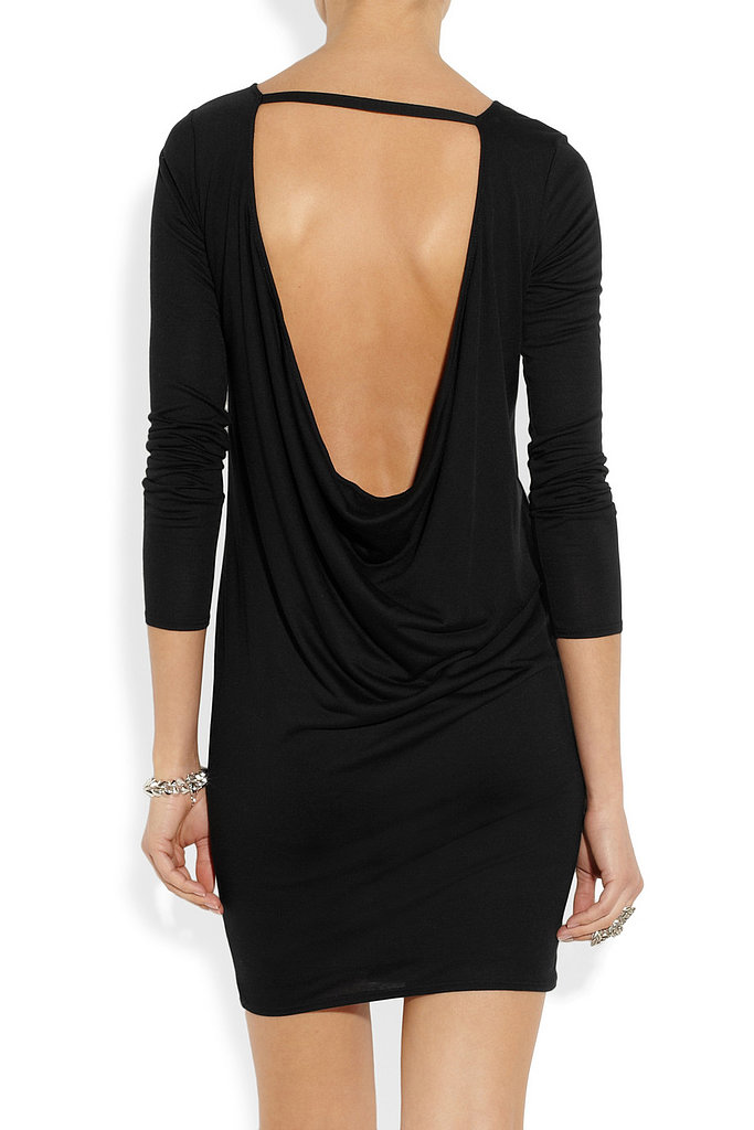 Helmut Lang Kinetic Open-Back Black Mini Dress ($210)