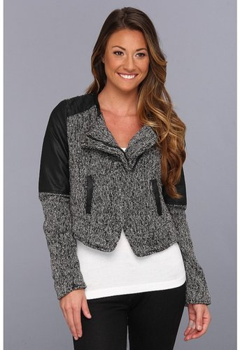 dollhouse - Nicole Tweed Bolero Jacket (Black/White) - Apparel
