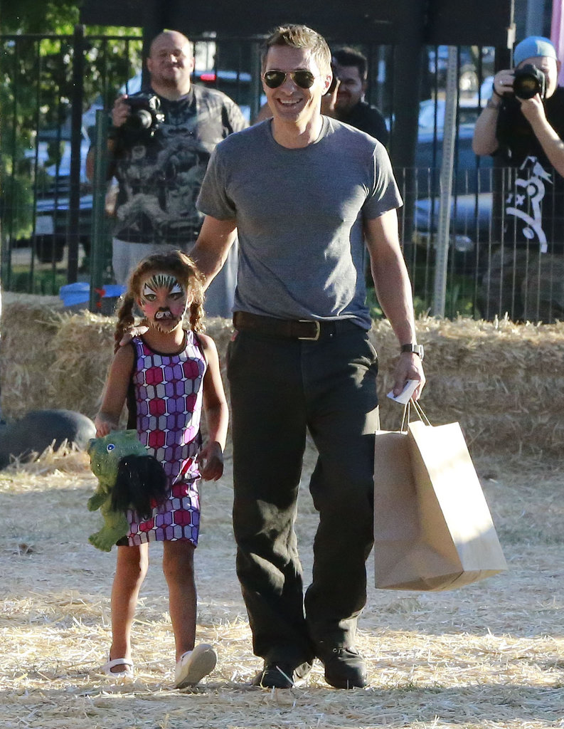 Olivier Martinez took Halle Berry's daughter, Nahla, to the famed Mr. Bones pumpkin patch in LA.