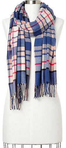 Cozy multi-color plaid scarf