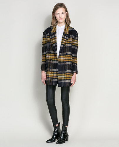 Checked Wool Coat