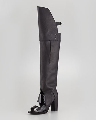 3.1 Phillip Lim Runway Ora Over-the-Knee Boot, Black