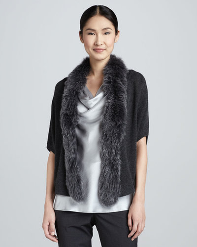 Magaschoni Fur-Trim Cashmere Sweater