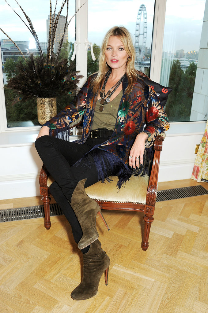 Kate Moss Takes Her Throne as the Queen of London Cool