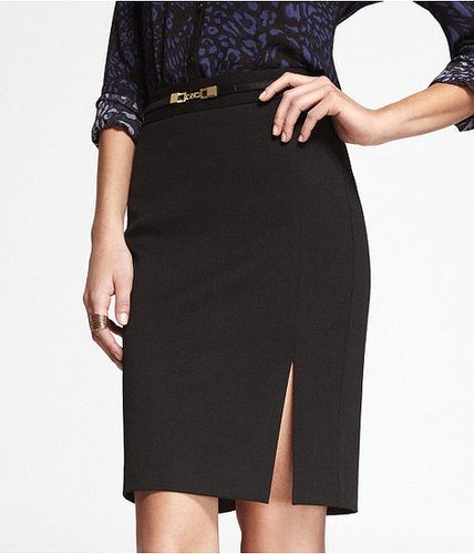 Studio Stretch High Waist Embellished Pencil Skirt