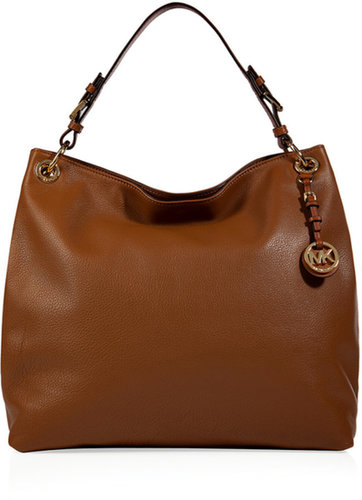 Michael Michael Kors Leather Jet Set Hobo in Luggage