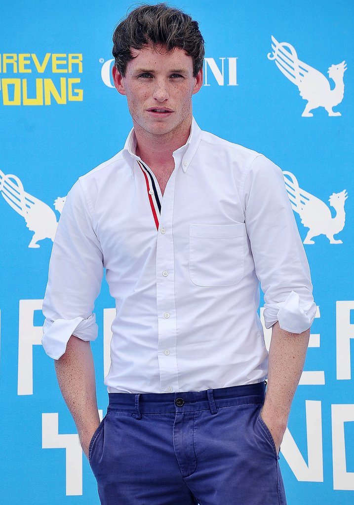 Eddie Redmayne Christian has copper hair, which  the Les Misérables star does too, and we think his obvious acting chops would be a boon for the film. Plus, check out his outfit here — totally casual Christian.