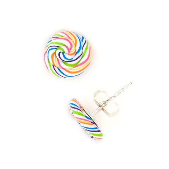 There's something perfectly nostalgic that we can't help but love about these lollipop stud earrings ($15).