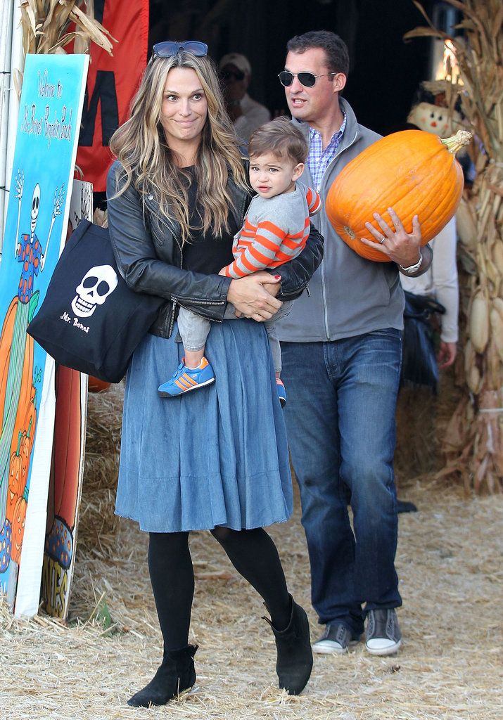 Molly Sims took her family to a pumpkin patch in LA.