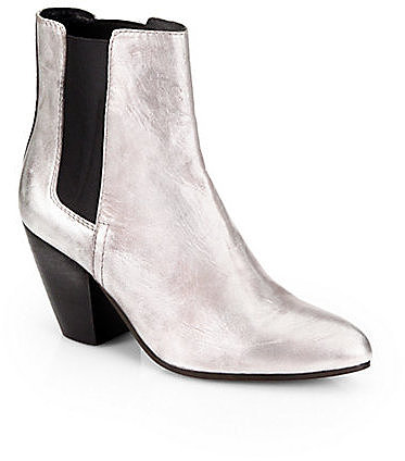 Ash Obsession Metallic Leather Chelsea Boots