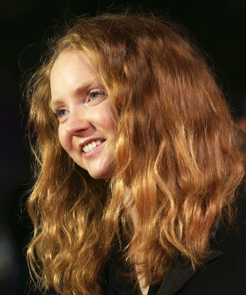 Model Lily Cole showed off her natural beauty with a barely-there makeup look at The Zero Theorem screening.