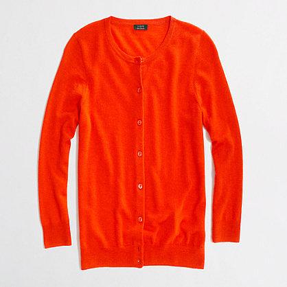 Factory summerweight cashmere cardigan
