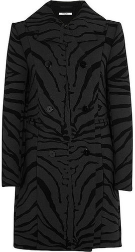 Carven Zebra-print wool-blend coat