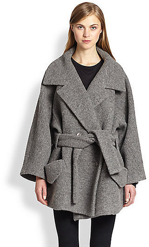 Carven Oversized Belted Knit Coat