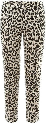 Thakoon Addition Leopard Print Cotton Trousers