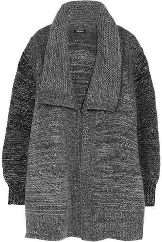 DKNY Draped wool-blend cardigan