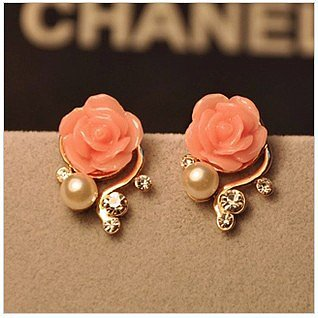 [grhmf2300029]Bohemia Style Rhinestone Rose Earrings