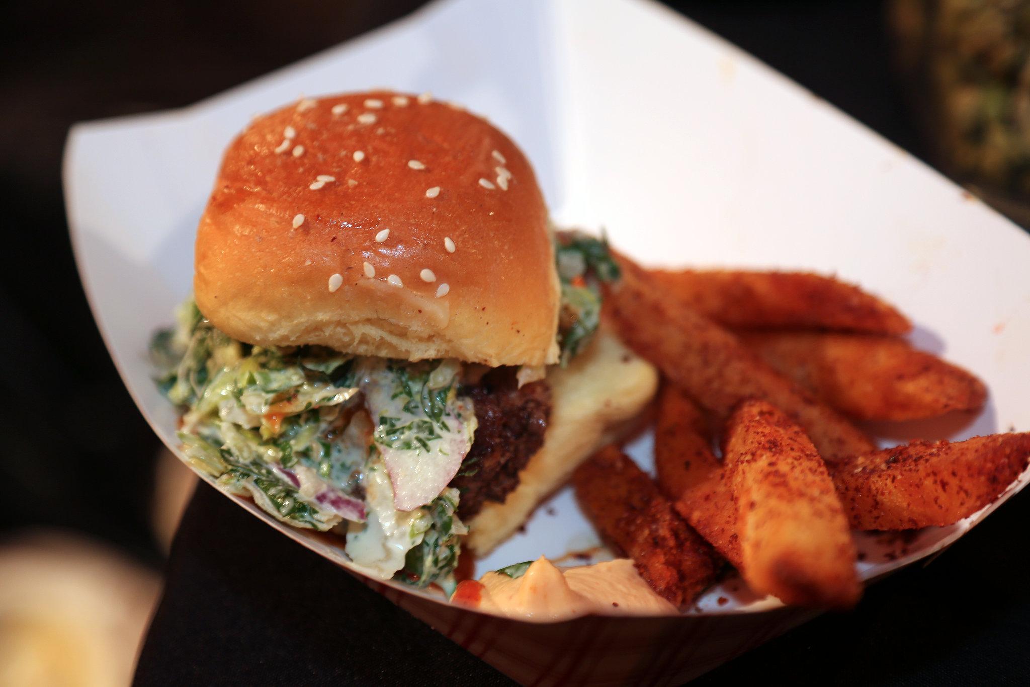 Ilili Schwarma Burger With Phoenician Fries