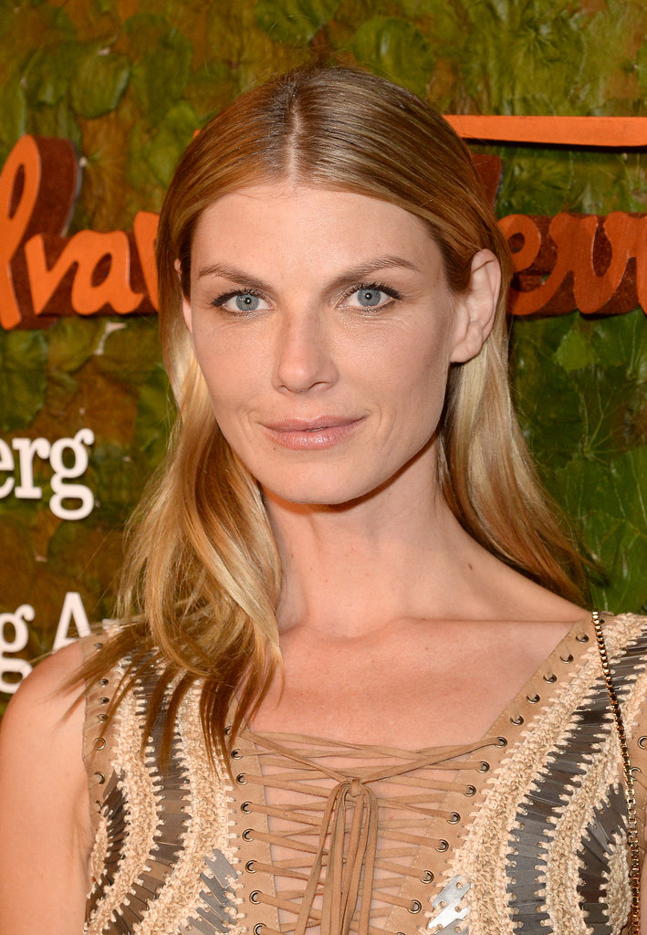 Angela Lindvall proves that the wet hair look can be wearable.