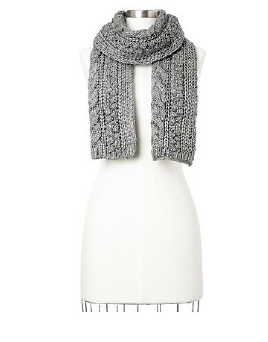 Because a gray scarf like