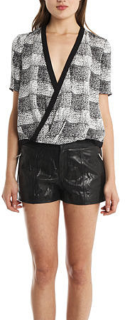 10 Crosby Derek Lam Wrap Blouse
