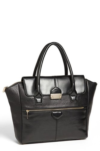 Under One Sky Faux Leather Satchel