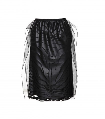 Carven - Flocked tulle skirt